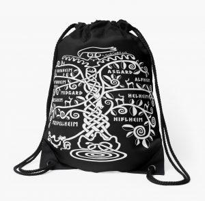 Yggdrasil The World Tree drawstring bag