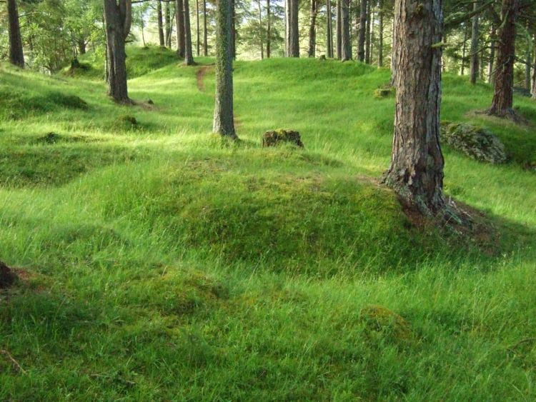 Burial mounds at Vang Cemetery