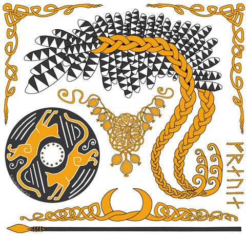 Freyja design in gold