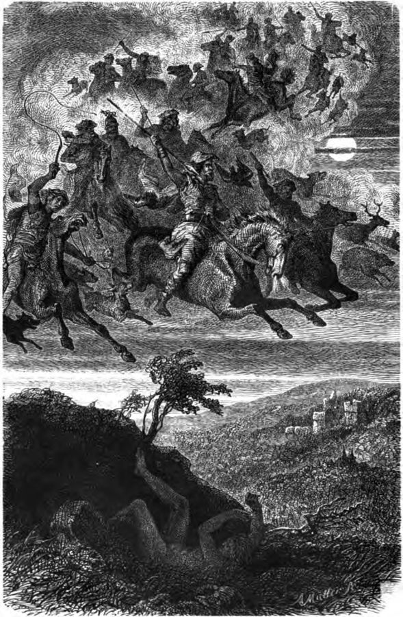 Wodan't Wild Hunt by Friedrich Wilhelm Heine occurs during the heathen holiday of Yule