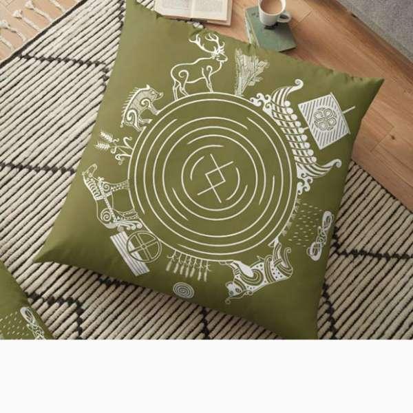 Freyr - God of the World Floor Pillow