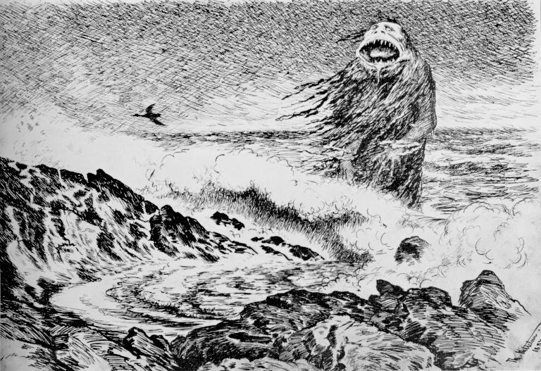 The Sea Troll by Theodor Kittelsen